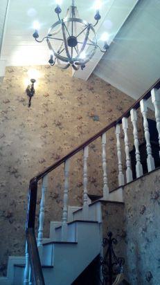 欧式双分折角楼梯图片