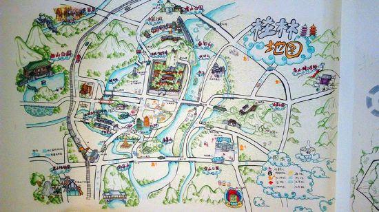 有一幅手绘地图