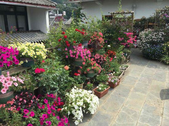整个客栈两层小楼,花园式庭院设计,既与古镇的古朴相融合,又具有现代