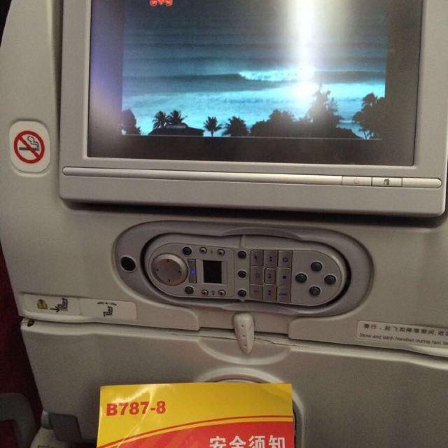 海航波音787梦想客机,娱乐设施很好